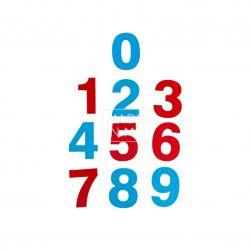 Комплект цифр на магнитах