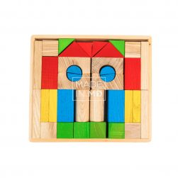 Small Wooden Meccano Set