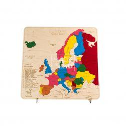 Пазл «Карта Европы» цветной