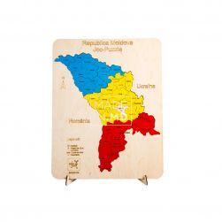 Пазл «Карта Молдовы» цветной