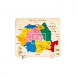 """Puzzle """"Harta României cu..."""