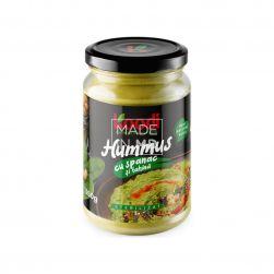 Hummus cu spanac și tahină