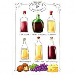 Carte poștală Vinurile...