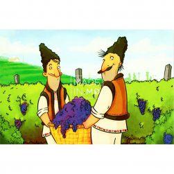 Postcard Grapes Harvest