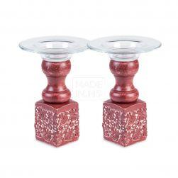 Suport lumânare mic cu sticlă