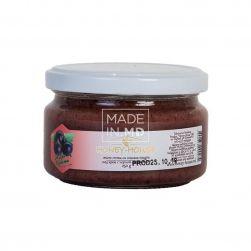 Мед крем с черной смородиной